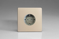 Varilight European 1 Gang Socket with Schuko Earth 16A Satin Chrome - XEN5FG